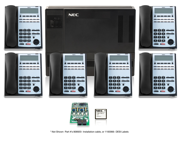SL1100 Digital Quick Start Kit with 12 Button Telephones - NEC SL1100