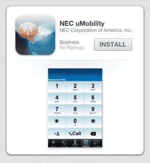 NEC uMobility Mobile App