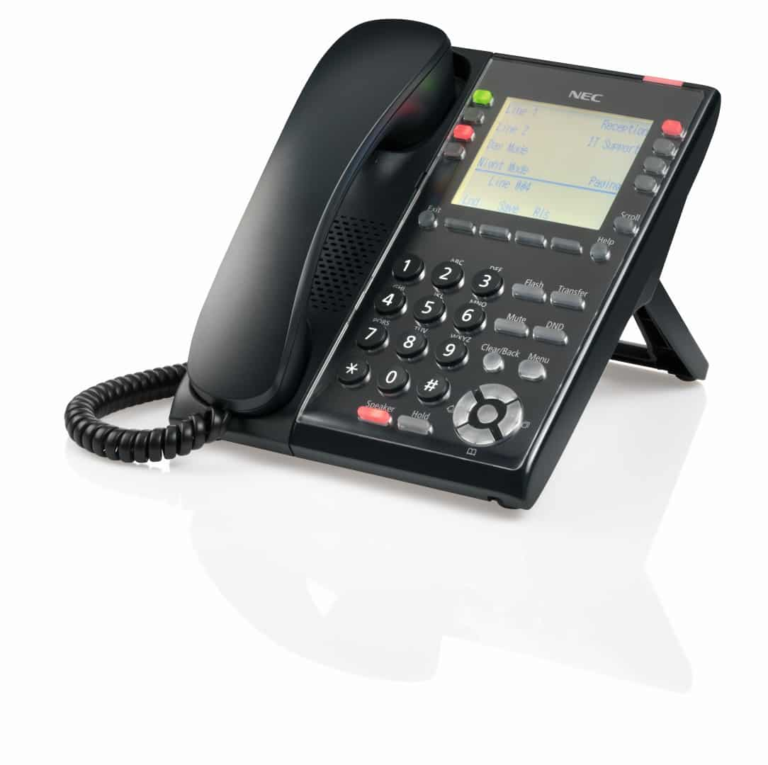 NEC SL2100 IP Self Labeling Telephone Full left side view - NEC SL2100
