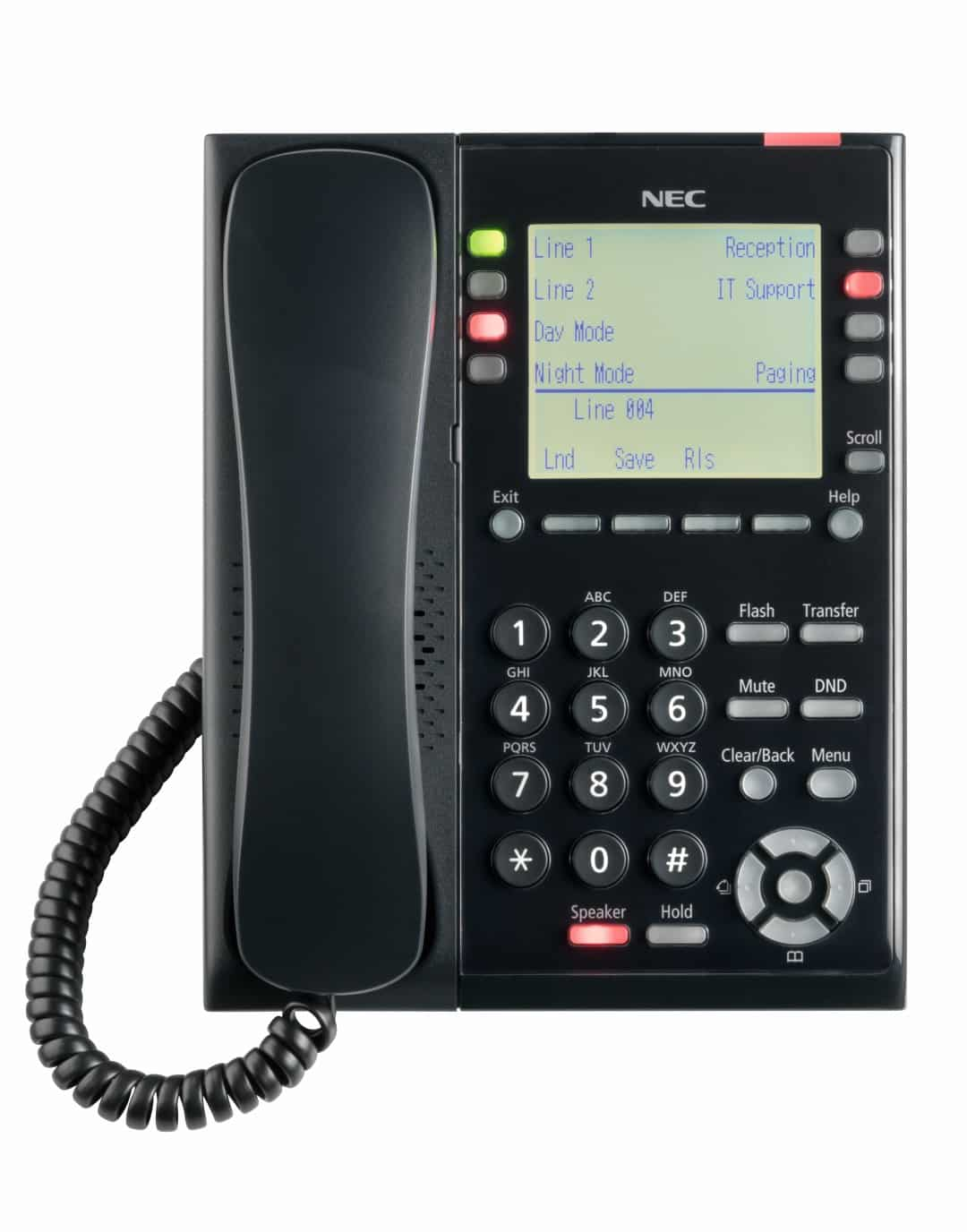 NEC SL2100 IP Self Labeling Telephone front view - NEC SL2100