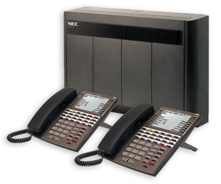NEC DSX cabinet and telephones