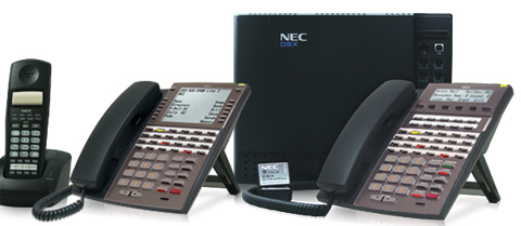 NEC DSX Phone System Image with phones